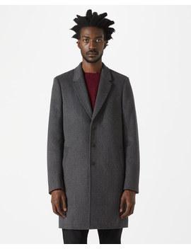 Grey Herringbone Epsom Coat by Jigsaw