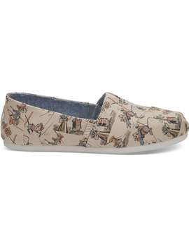 Disney X Toms Taupe Gus & Jaq Women's Classics by Toms