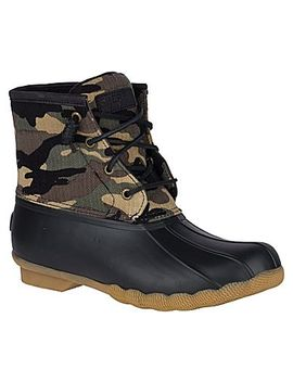 Women's Saltwater Camo Duck Boot by Sperry