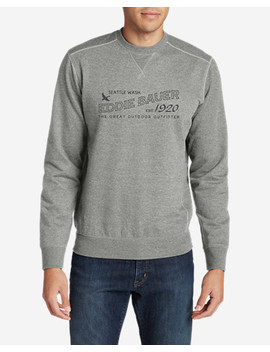 Men's Camp Fleece Crewneck Sweatshirt   Graphic by Eddie Bauer
