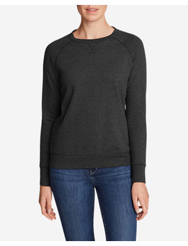 Women's Camp Fleece Long Sleeve Crewneck Pullover by Eddie Bauer