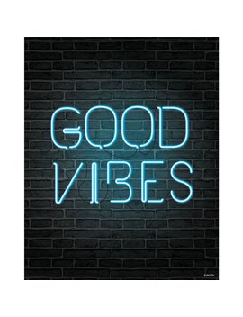 Good Vibes Neon Sign Print by Dormify