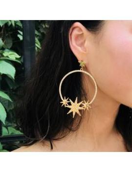 Roaso Fashion Stars Shape Gold Metal Earring by Roaso