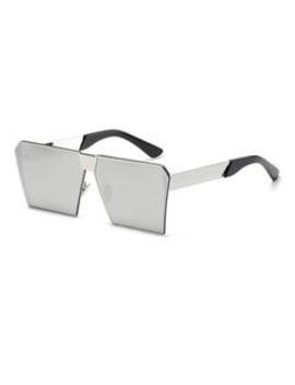 Roaso Fashion Square Frame  Metal Sunglass by Roaso