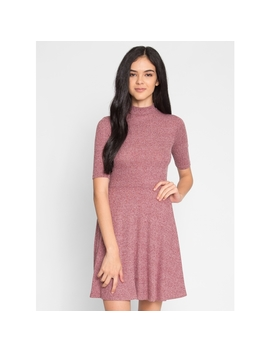 Scarlet Marled Fit And Flare Dress by Wet Seal