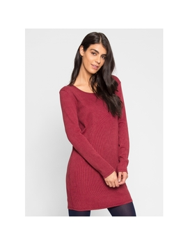 Wintergreen Knit Dress In Wine by Wet Seal