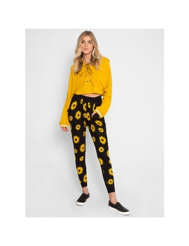 Sunshine Floral Drape Joggers by Wet Seal