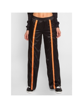 Construct Snap Trim Satin Pants by Wet Seal