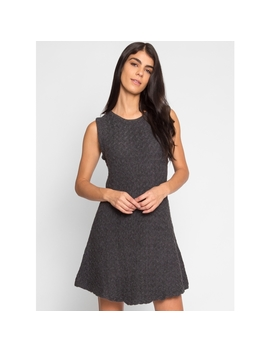 Washington Texture Dress In Gray by Wet Seal