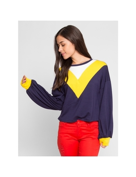 Dreams Athletic Sweater In Yellow by Wet Seal