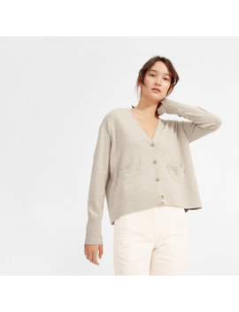 The Cashmere Square V Neck Cardigan by Everlane