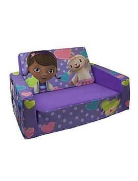 Marshmallow Fun Co Children's Upholstered 2 In 1 Flip Open Sofa   Disney Doc Mc Stuffins Marshmallow Fun Co Children's Upholstered 2 In 1 Flip Open Sofa   Disney Doc Mc Stuffins by Kmart