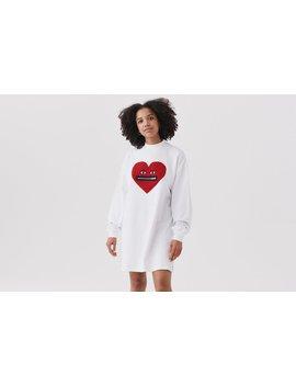 Lazy Oaf Zippy Heart Sweater Dress by Lazy Oaf