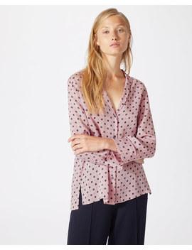 African Spot Silk Shirt by Jigsaw