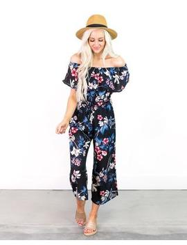 Courtney Off The Shoulder Floral Jumper by Cents Of Style