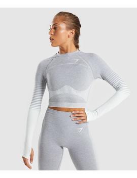 Amplify Seamless Long Sleeve Crop Top by Gymshark