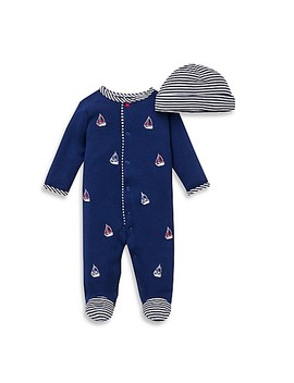 Little Me® 2 Piece Sailboats Footie And Hat Set by Buybuy Baby
