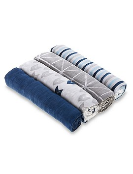 Aden® By Aden + Anais® Denim Wash 4 Pack Cotton Muslin Swaddle Blankets by Buybuy Baby