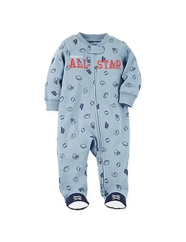 Carter's® Snap Up All Star Sleep & Play Footie In Blue by Buybuy Baby