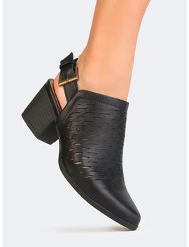 Cutout Buckle Bootie by Zooshoo