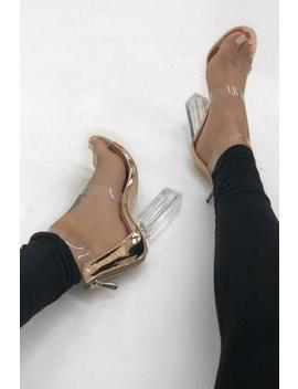 Reem Heels   Rose Gold by Want My Look