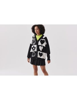 Lazy Oaf Happy Heart Cardigan by Lazy Oaf