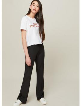 Petite Black Kickflare Trousers by Miss Selfridge
