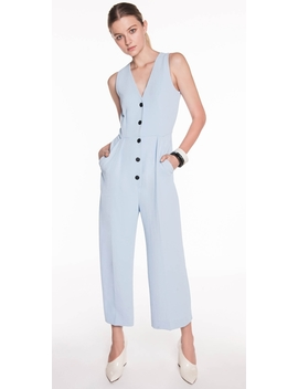 Soft Twill Crepe Jumpsuit by Cue