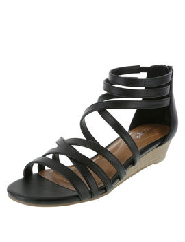 Women's Nessa Low Wedge Sandal by Learn About The Branddexflex Comfort