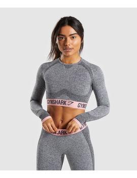 Flex Long Sleeve Crop Top by Gymshark