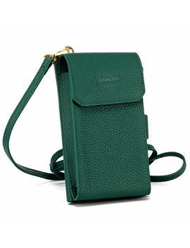 Crossbody Bag Wallet Pomoda Genuine Leather Cell Phone