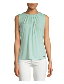Calvin Klein Pleated Neck Blouse by Calvin Klein
