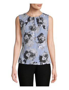 calvin-klein-floral-pleated-blouse by calvin-klein