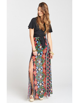 Mick Double Slit Skirt ~ Mexicali by Show Me Your Mu Mu
