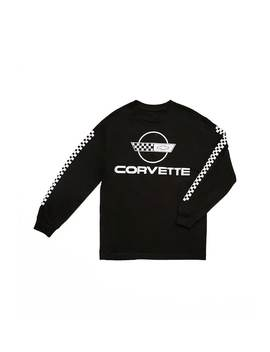 corvette-checkered-sleeve-graphic-tee by forever-21