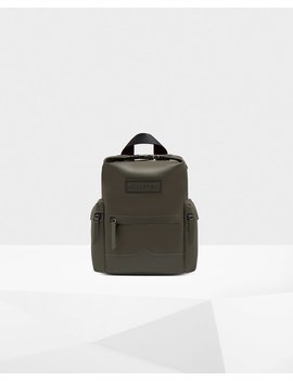 "<Span Itemprop=""Name"">Original Mini Top Clip Backpack   Rubberized Leather</Span>:                     <Span>Dark Olive</Span> by Hunter"