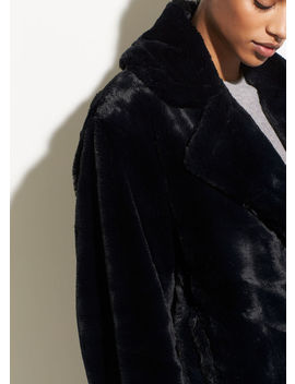 Plush Faux Fur Coat by Vince
