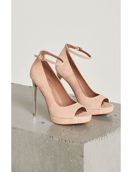 Becky Suede Ankle Strap Pump by Bcbgmaxazria