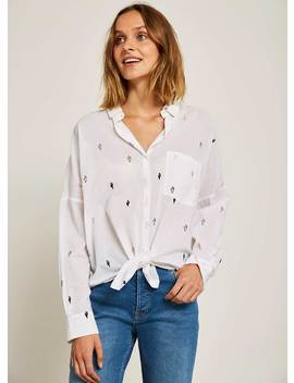 Cactus Embroidered Shirt by Mint Velvet