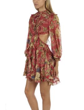 Zimmermann Melody Lace Up Short Dress by Zimmermann