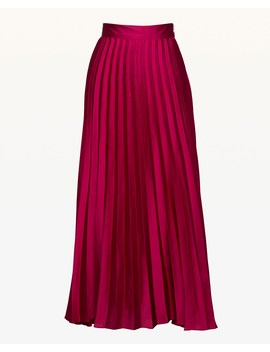 Pleated Silk Midi Skirt by Juicy Couture