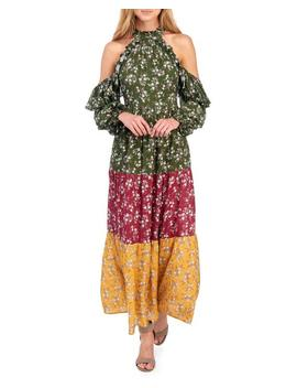 Floral Tiered Cold Shoulder Maxi Dress Floral Tiered Cold Shoulder Maxi Dress by Coco + Jaimeson Coco + Jaimeson