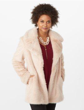 Faux Fur Coat by Dressbarn