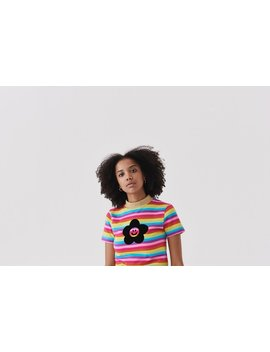 Lazy Oaf Flower Power Rainbow T Shirt by Lazy Oaf