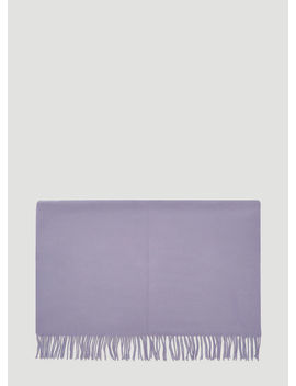 Canada Fringed Scarf In Purple by Acne Studios