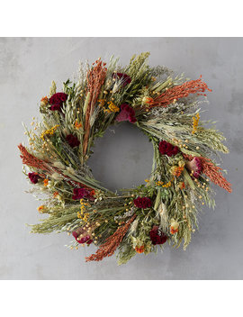 Flax And Safflower Bouquet Wreath by Terrain