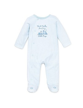 Little Me® Thank Heavens Footie In White/Skylight Blue by Buybuy Baby