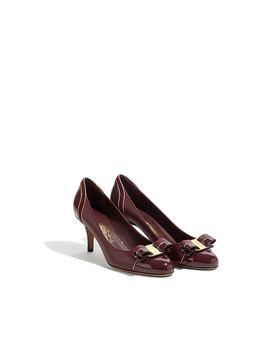 Vara Bow Pump Shoe by Salvatore Ferragamo