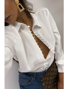 Solo White Button Up Shirt  by The Fashion Bible