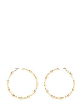 Bamboo Hoop Earrings by Skinnydip
